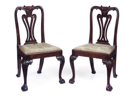 A PAIR OF GEORGE II CARVED WAL