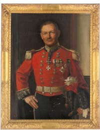 Portrait of Deputy-Lieutenant Bayley, half-length, in a full military uniform