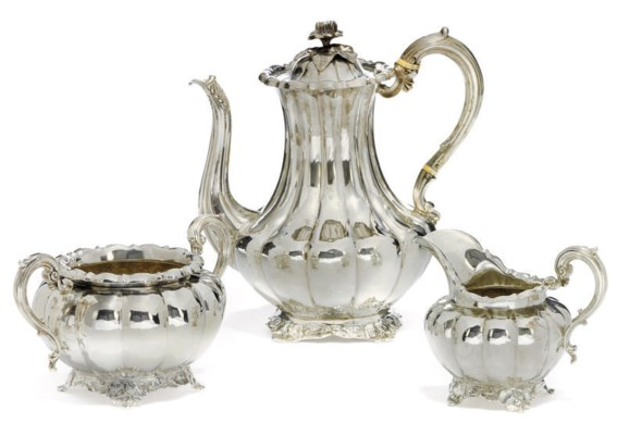 A MATCHED VICTORIAN SILVER THR