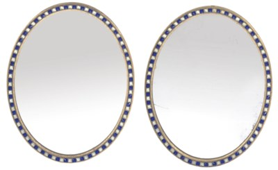 A PAIR OF GILTWOOD AND GLASS O