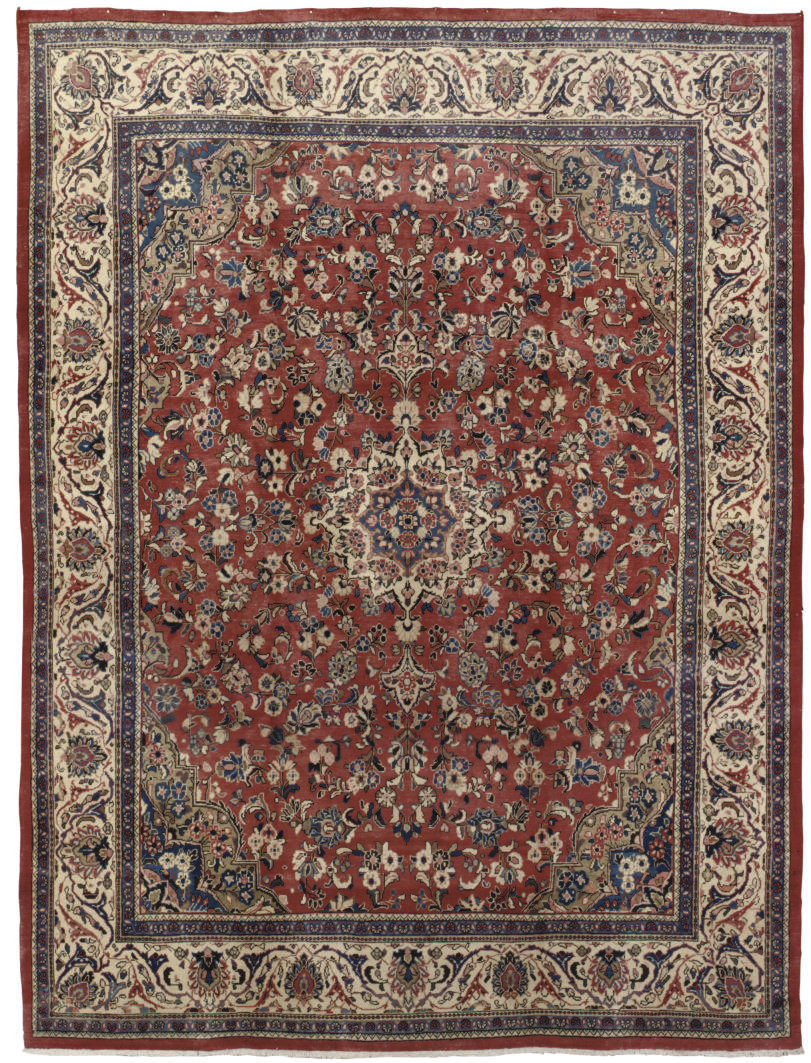 A FINE SAROUK-MAHAL CARPET, WE