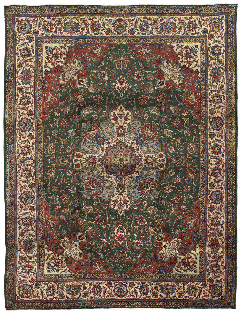 A FINE TABRIZ CARPET NORTH-WES