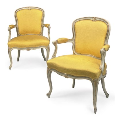 A PAIR OF GEORGE III WHITE PAI