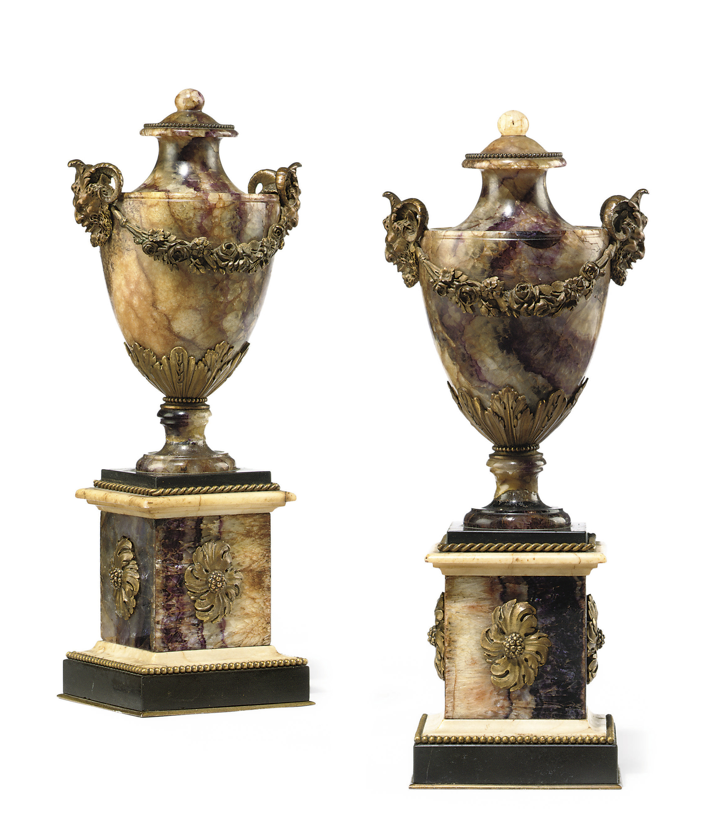A PAIR OF GEORGE III ORMOLU MO