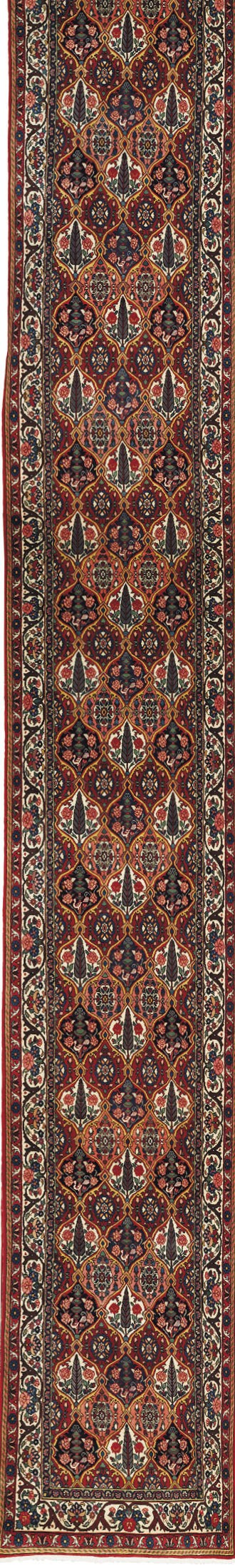A FINE BAKHTIARI RUNNER, WEST