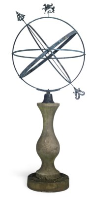 A BRONZE ARMILLIARY SPHERE
