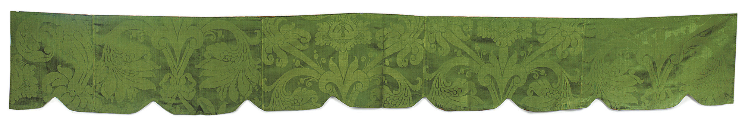 A COLLECTION OF GREEN DAMASK