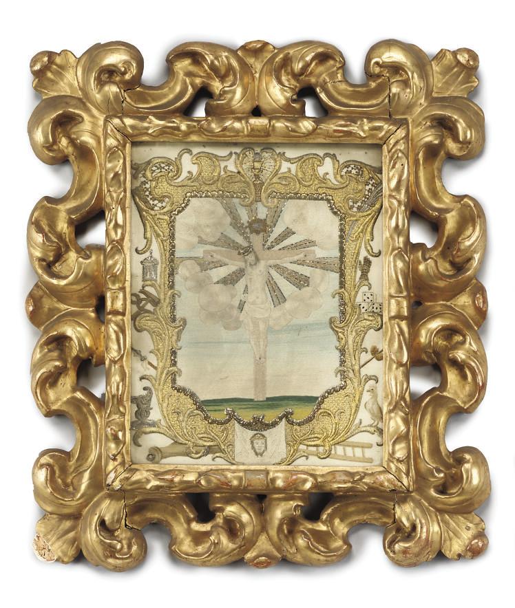 AN ITALIAN SILK AND GOLD BRAID