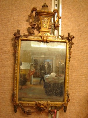 AN ITALIAN PAINTED AND PARCEL-