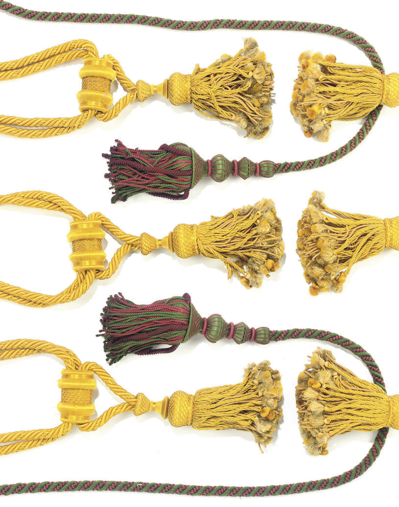 A COLLECTION OF SILK TASSLES