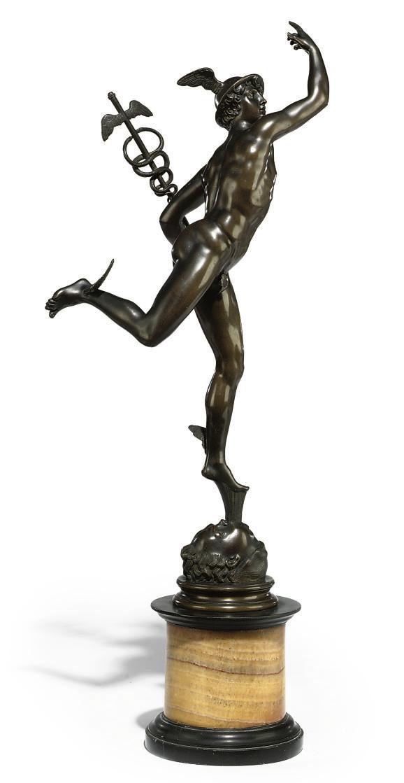 AN ITALIAN BRONZE MODEL OF MER