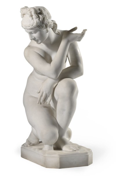 AN ITALIAN MARBLE MODEL OF THE