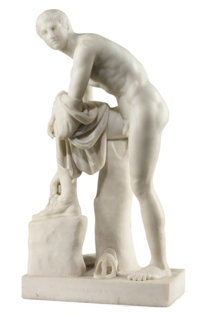 AN ITALIAN MARBLE MODEL OF CIN