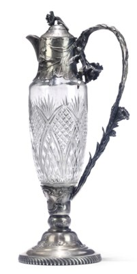 A CONTINENTAL SILVER AND CUT-G