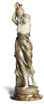 AN ITALIAN ALABASTER MODEL OF