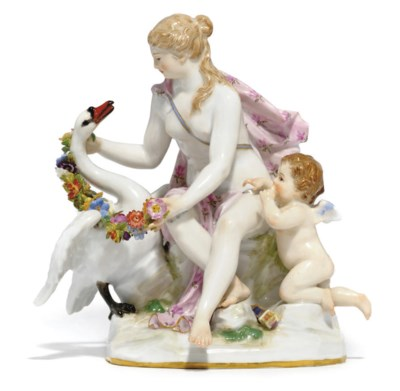 A MEISSEN GROUP OF LEDA AND TH