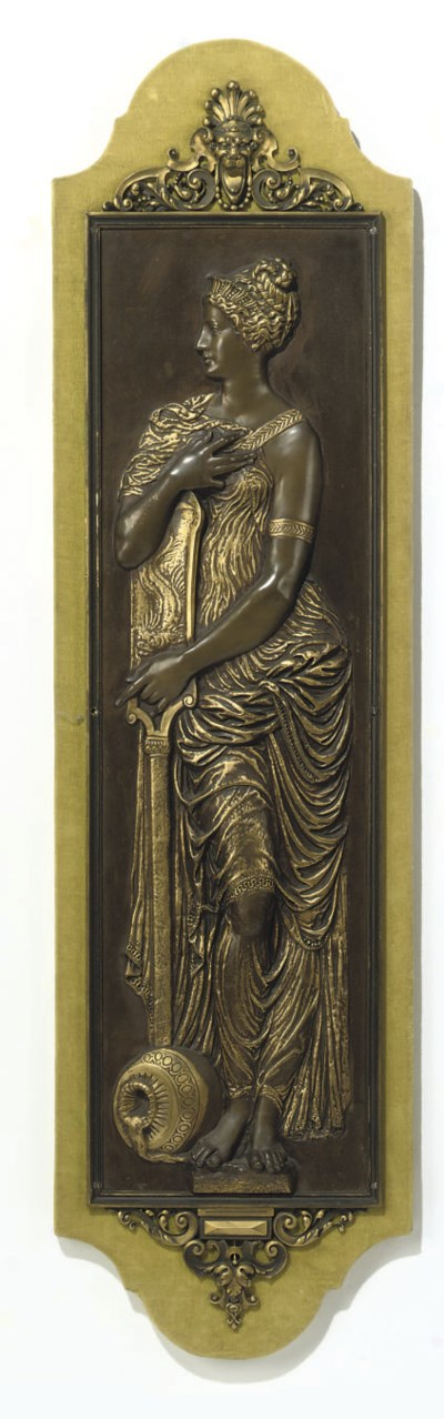 A FRENCH PARCEL-GILT BRONZE RE