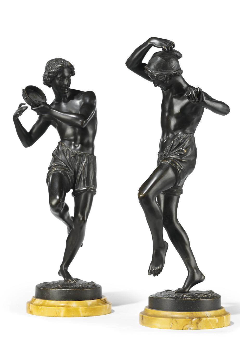 A PAIR OF FRENCH BRONZE NEAPOL