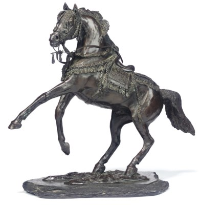 AN ENGLISH BRONZE MODEL OF REA