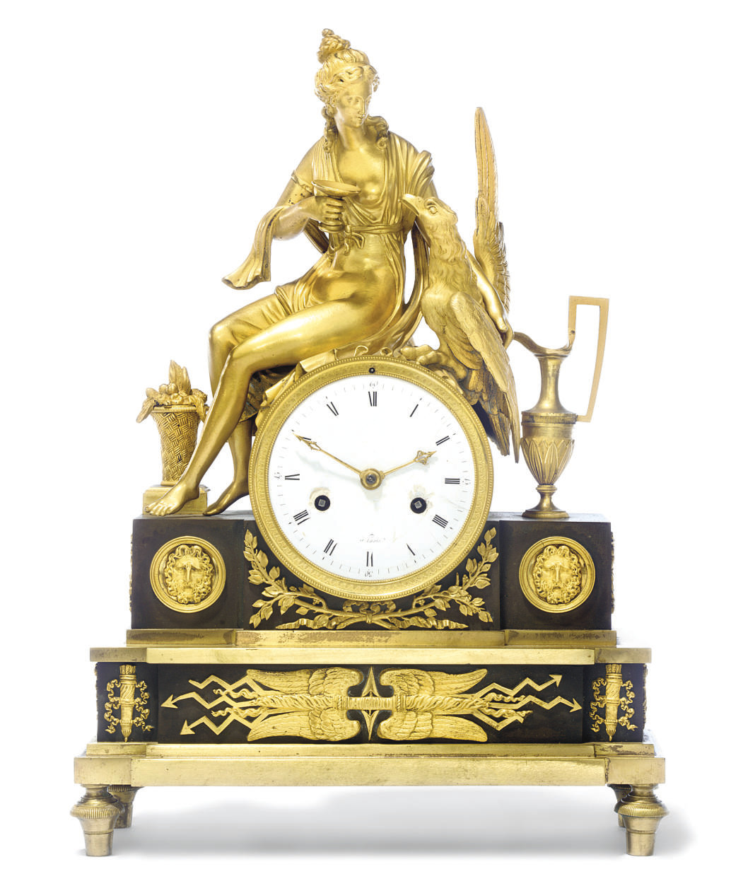AN EMPIRE BRONZED AND ORMOLU S