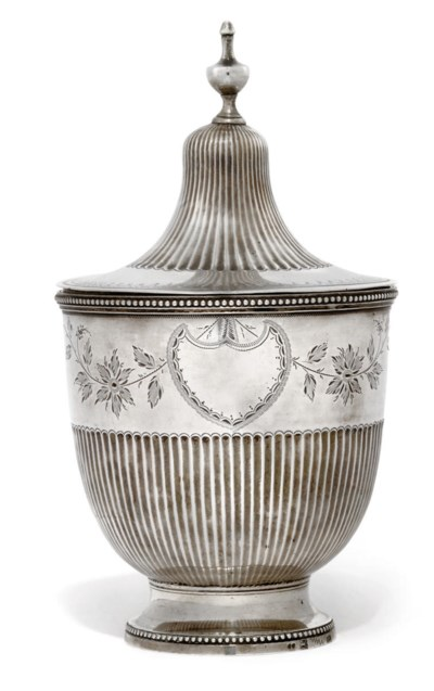 A PORTUGESE SILVER COVERED SUG
