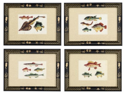 A SET OF TWELVE CHINESE RICE-P