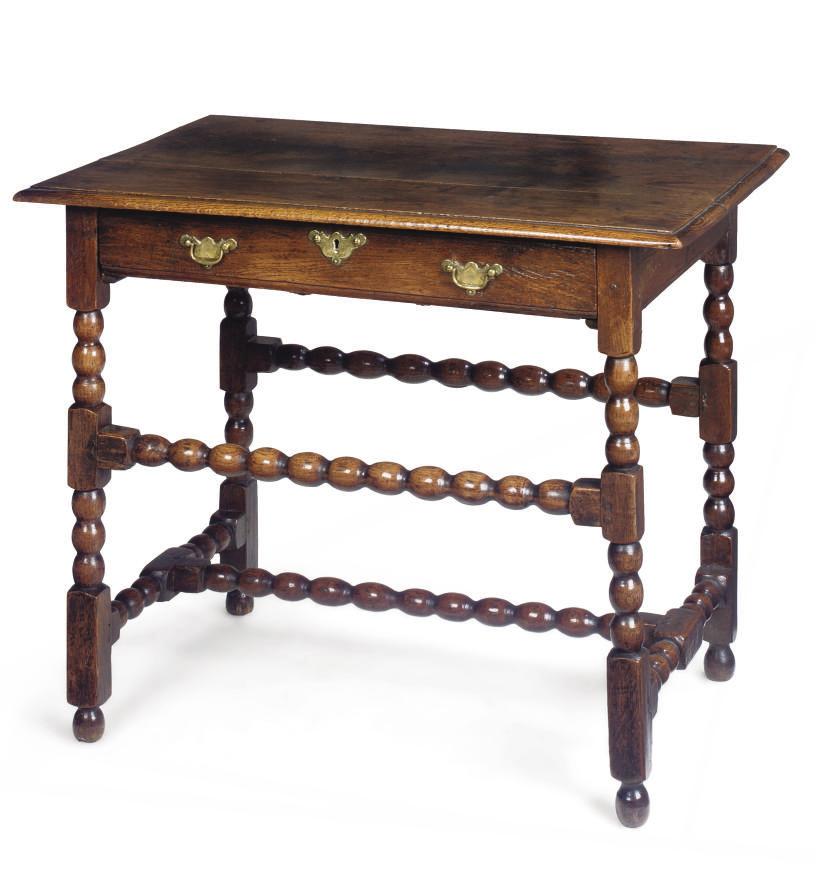 A QUEEN ANNE OAK SIDE TABLE