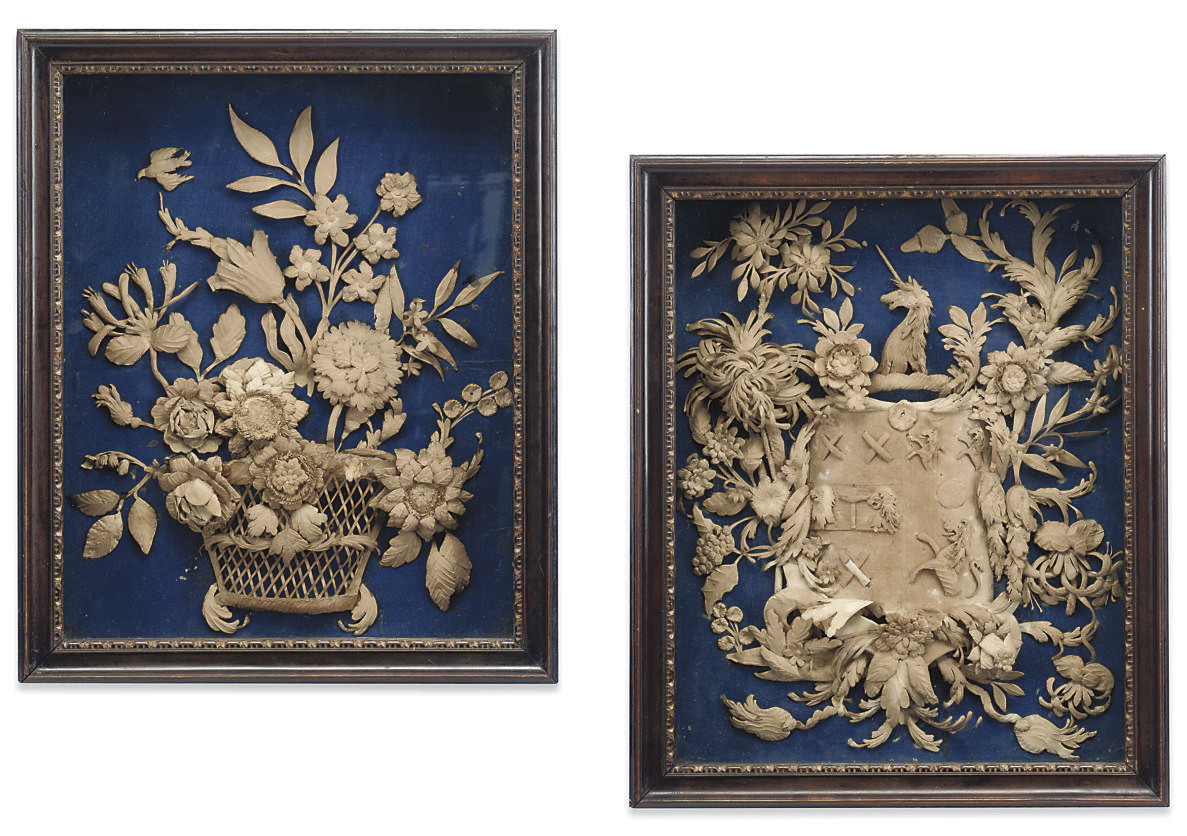 TWO GEORGE III CUT-CARD RELIEF