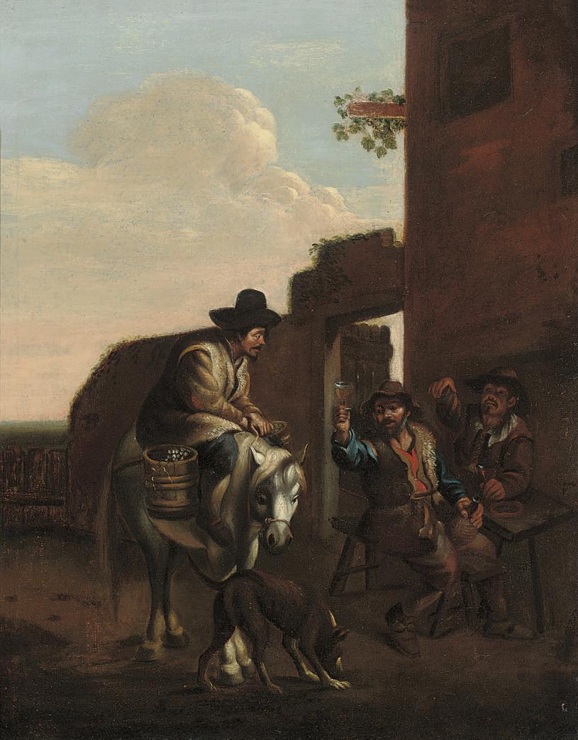 Follower of Pieter van Laer, i