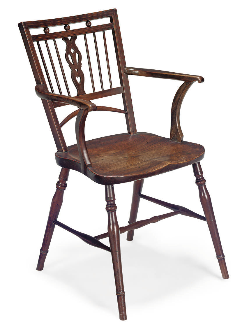 A GEORGE IV CHERRY AND ELM 'ME