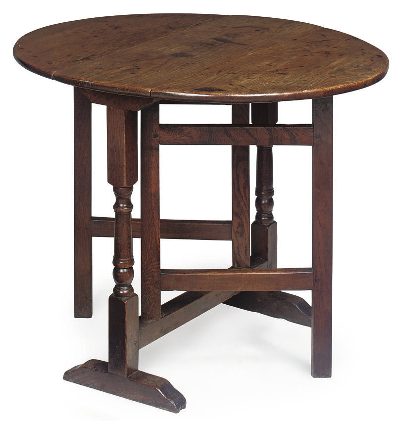 A GEORGE II OAK GATELEG TABLE