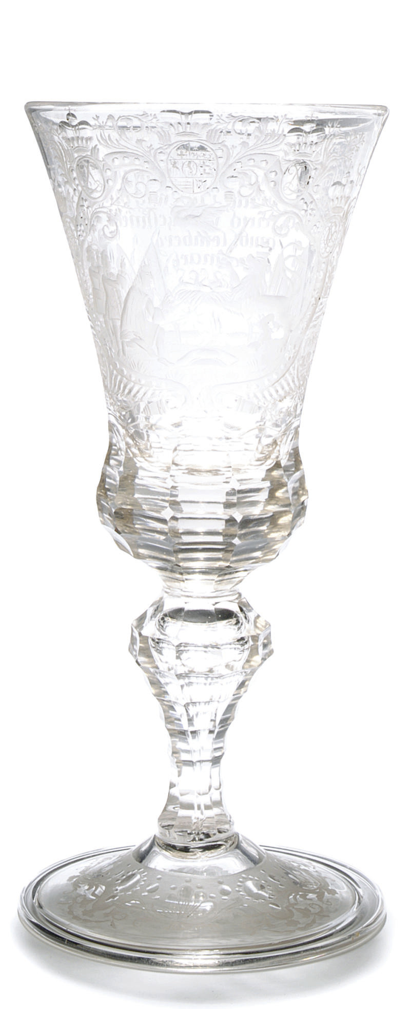 A GERMAN ENGRAVED GLASS DATED