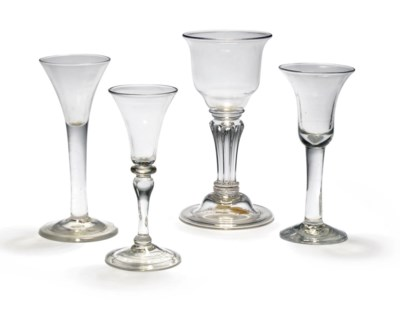 A SILESIAN STEMMED GLASS AND T