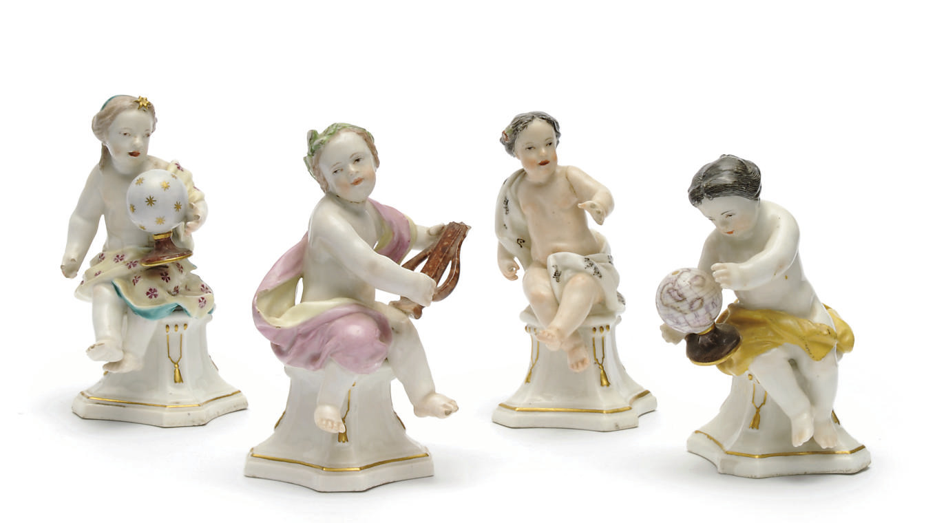 FOUR CHELSEA FIGURES OF ALLEGO