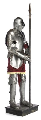 A VICTORIAN STEEL SUIT OF ARMO