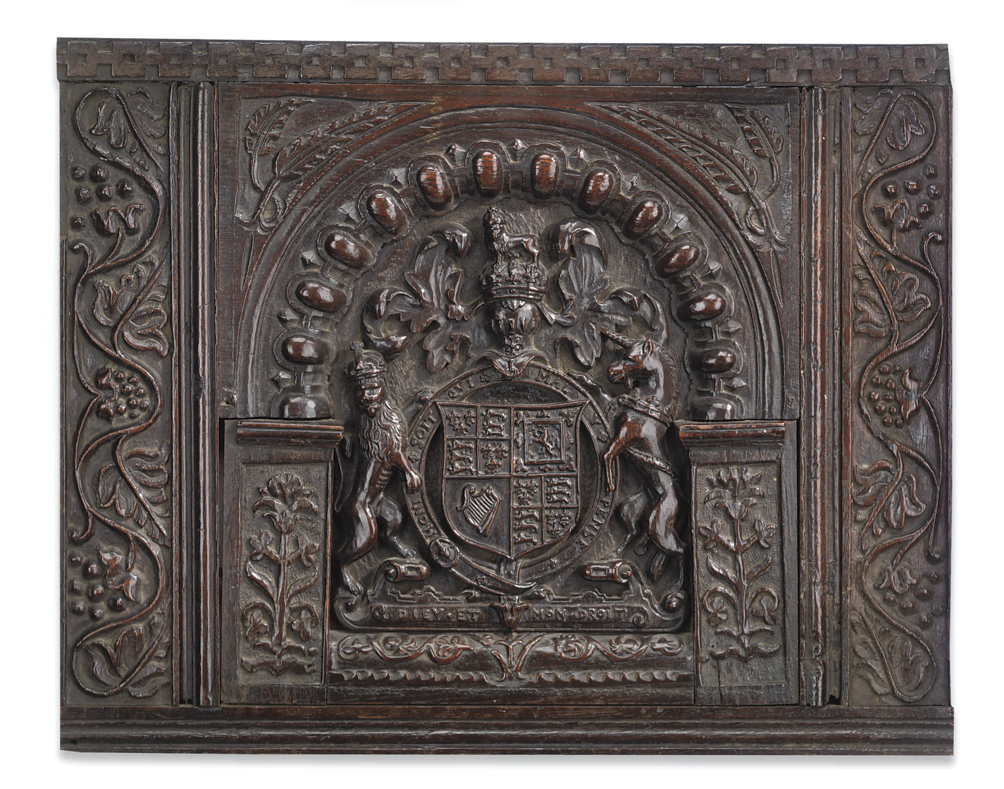 AN ENGLISH OAK RELIEF OF THE R