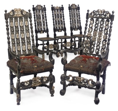 A MATCHED SET OF FIVE QUEEN AN