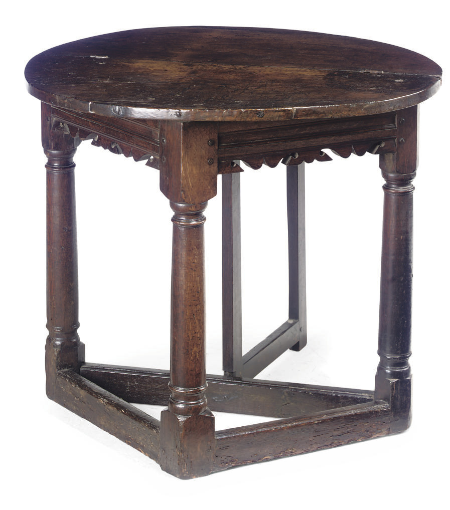 A CHARLES I OAK CREDENCE TABLE