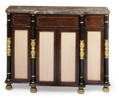 A GEORGE IV ROSEWOOD AND SATIN