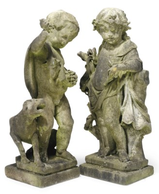 A PAIR OF FLEMISH MARBLE MODEL