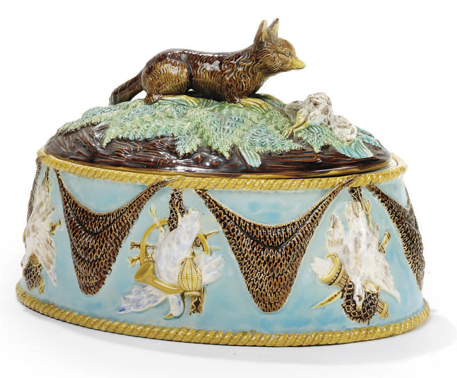 A GEORGE JONES MAJOLICA GAME-T