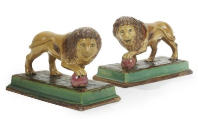 A PAIR OF STAFFORDSHIRE MODELS