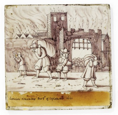 A LONDON DELFT TILE