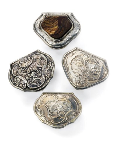 A GROUP OF FOUR GEORGE II SILV