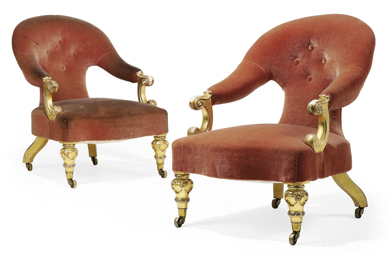 A PAIR OF MID-VICTORIAN GILTWO