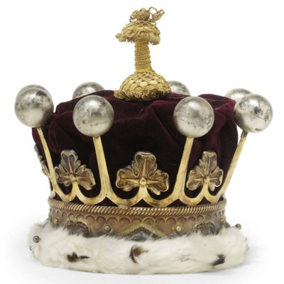 AN EDWARDIAN SILVER-GILT EARL'