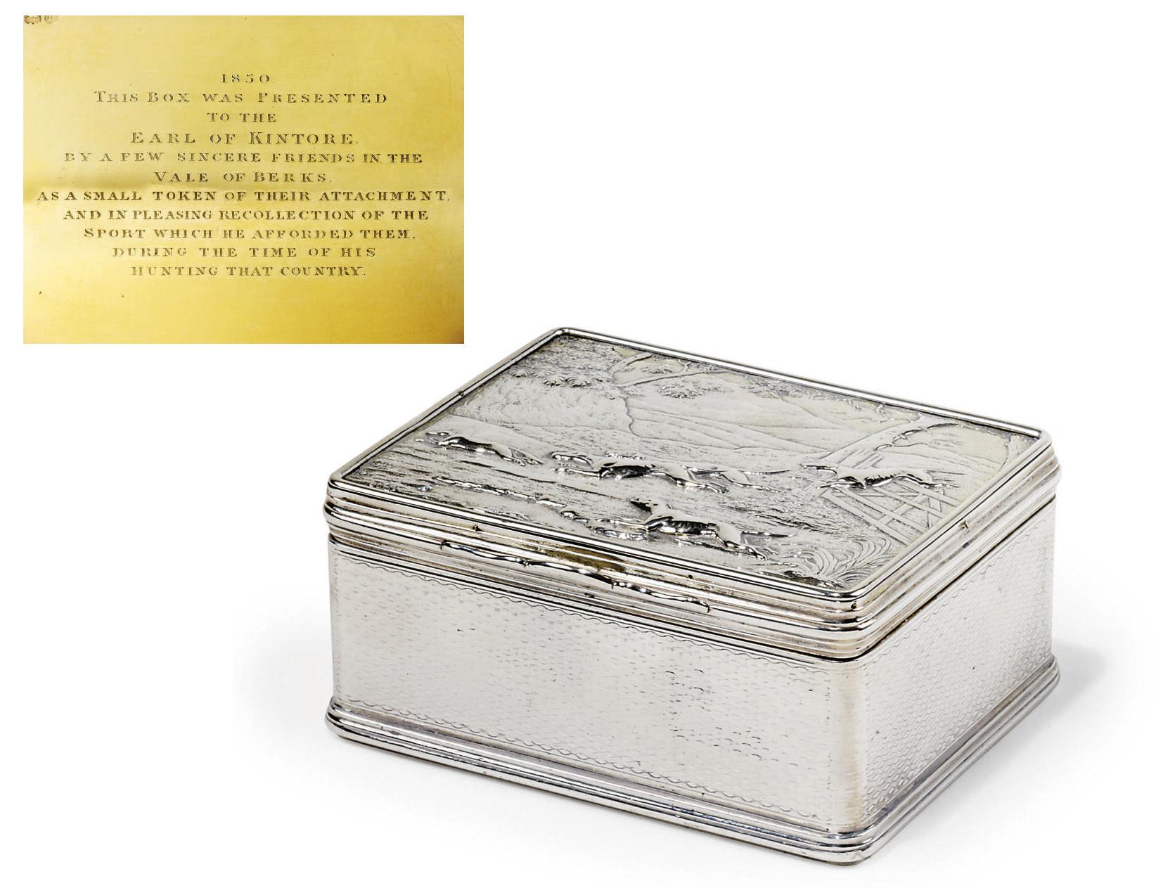 A WILLIAM IV SILVER-GILT TABLE
