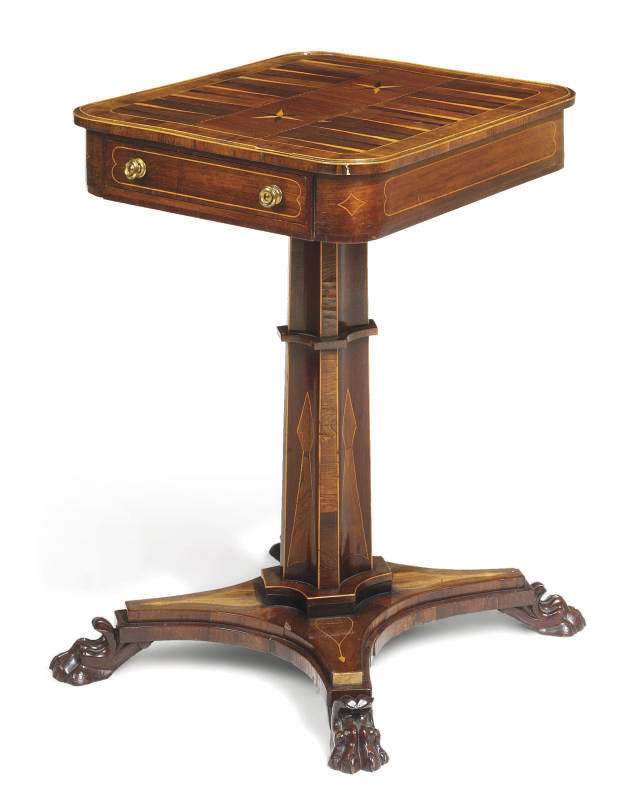 AN EARLY VICTORIAN ROSEWOOD, M