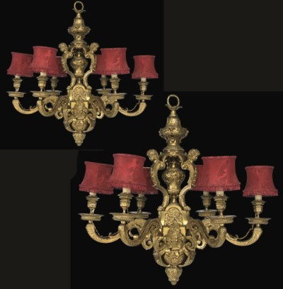 A PAIR OF FRENCH GILT BRONZE S