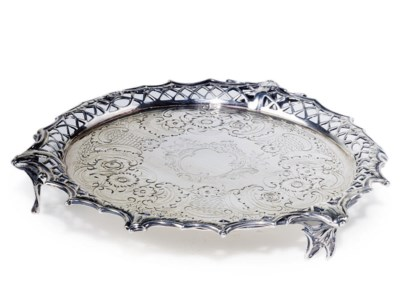A SMALL GEORGE III SILVER SALV